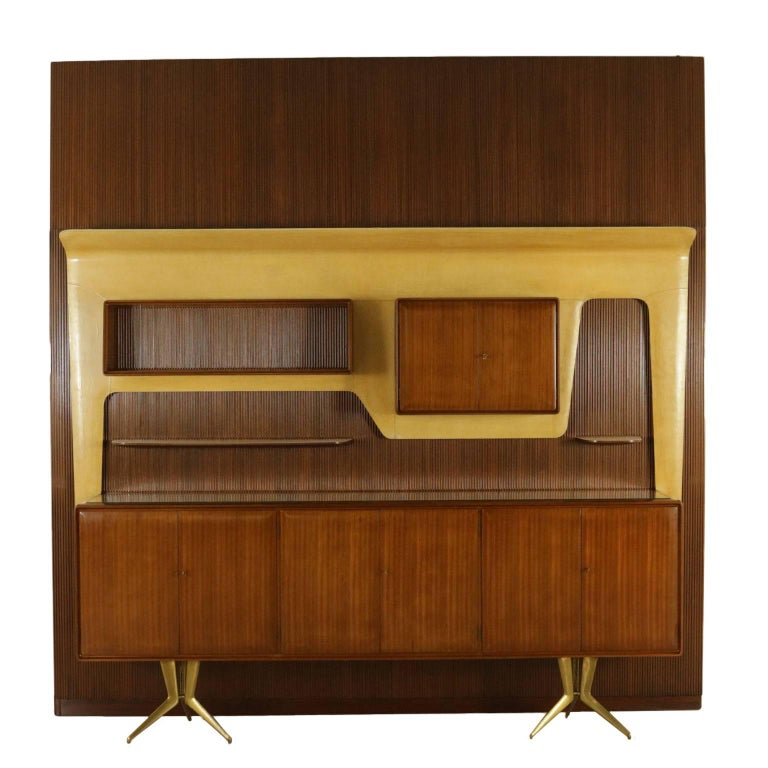 Piece of Furniture Designed by Gambarelli Mahogany Vintage, Italy, 1958