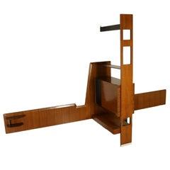 Separating Piece of Furniture Bar Side Rosewood Veneer Vintage Italy 1960s