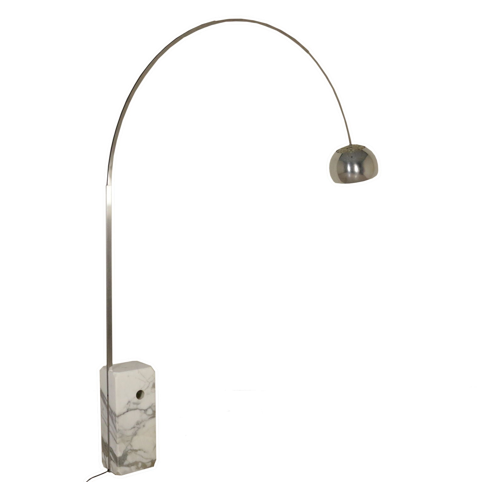 Floor Lamp Arco By Castiglioni Brothers For Flos Marble Steel