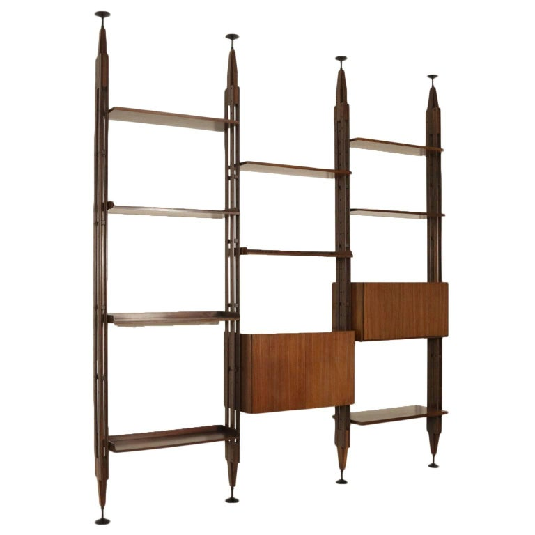 Bookcase Designed by Franco Albini Rosewood Vintage, Italy, 1960s-1970s