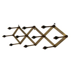 Coat Rack by Luigi Caccia Dominioni Brass Vintage, Italy, 1950s-1960s