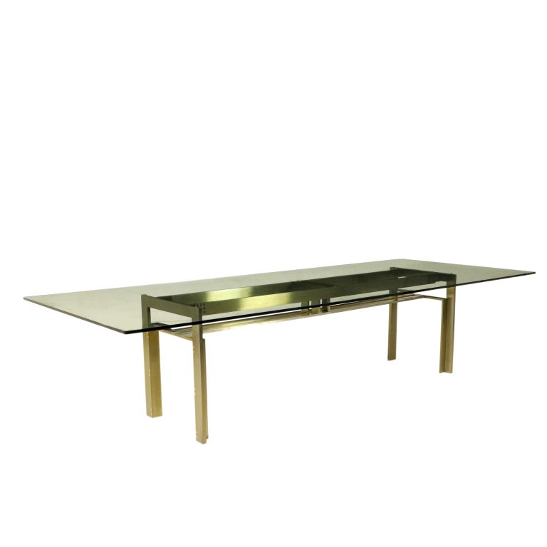 Table by Carlo Scarpa Steel Crystal Vintage, Italy, 1970s-1980s