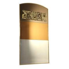 Mirror by Luciano Frigerio Brass Vintage, Italy, 1970s