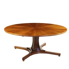 Table Walnut Concentric Slices Vintage, Italy, 1950s