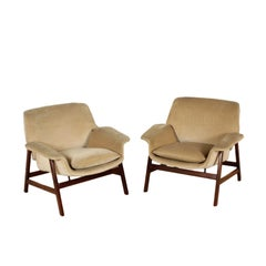Pair of Armchairs Gianfranco Frattini Vintage, Italy, 1960s
