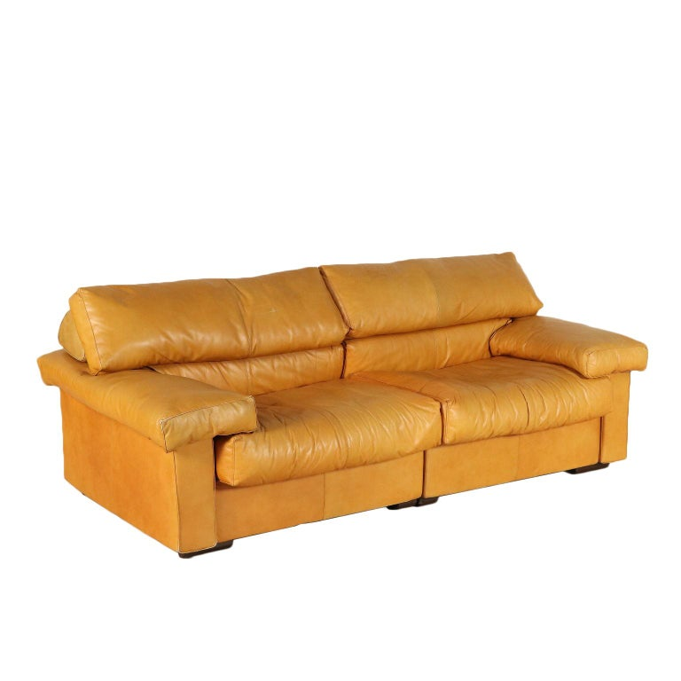 Sofa by Afra and Tobia Scarpa Leather Vintage, Italy, 1970s