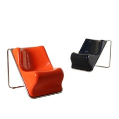 Pair of Armchairs Alberto Rosselli for Saporiti Vintage, Italy, 1970s