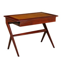 Writing Desk by George Nelson Solid Sessile Oak Vintage, 1960s-1970s