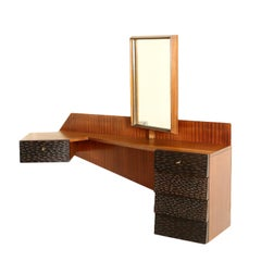 Dressing Table Attributed to Giancesare Battaini Mahogany Vintage, 1960s