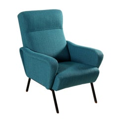 Armchair Fabric Upholstery Foam Padding Vintage, Italy, 1960s