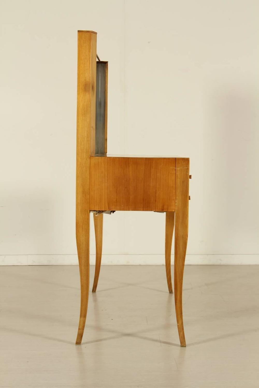 Dressing table with mirror solid wood exotic veneer
