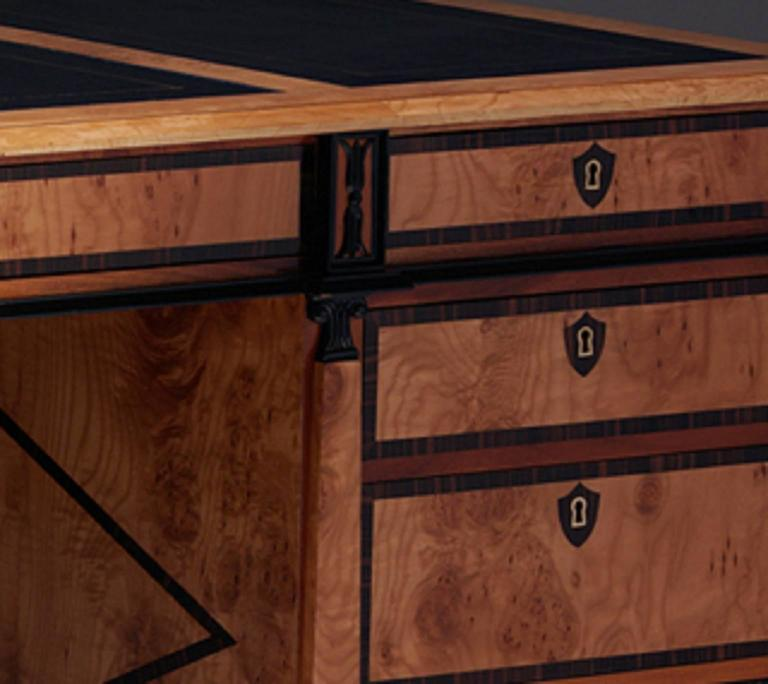 Pedestal Desk in the Biedermeier manner 3