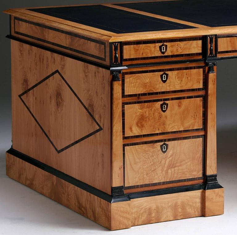 Pedestal Desk in the Biedermeier manner 5