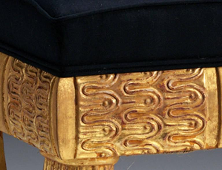 English Lotus Stool in the manner of Thomas Hope  For Sale