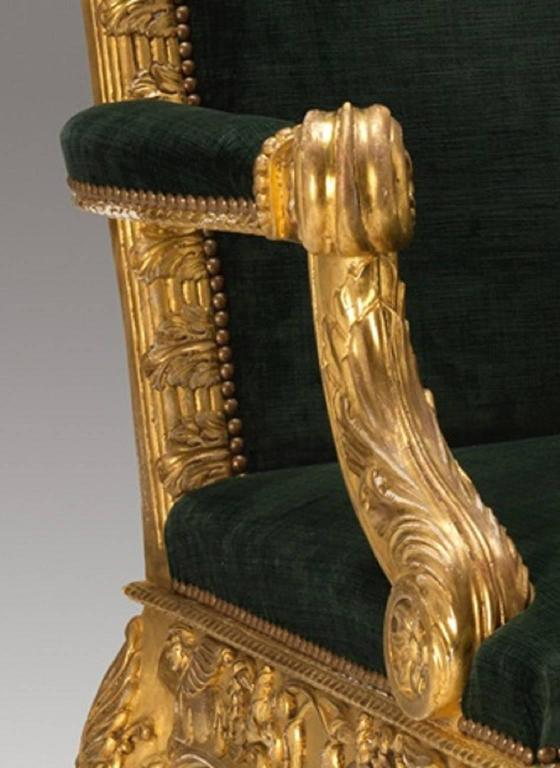 'Dundas' Library Armchairs after a model by Robert Adam and Thomas Chippendale 3