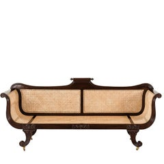 Antique Anglo-Indian or British Colonial Rosewood Sofa