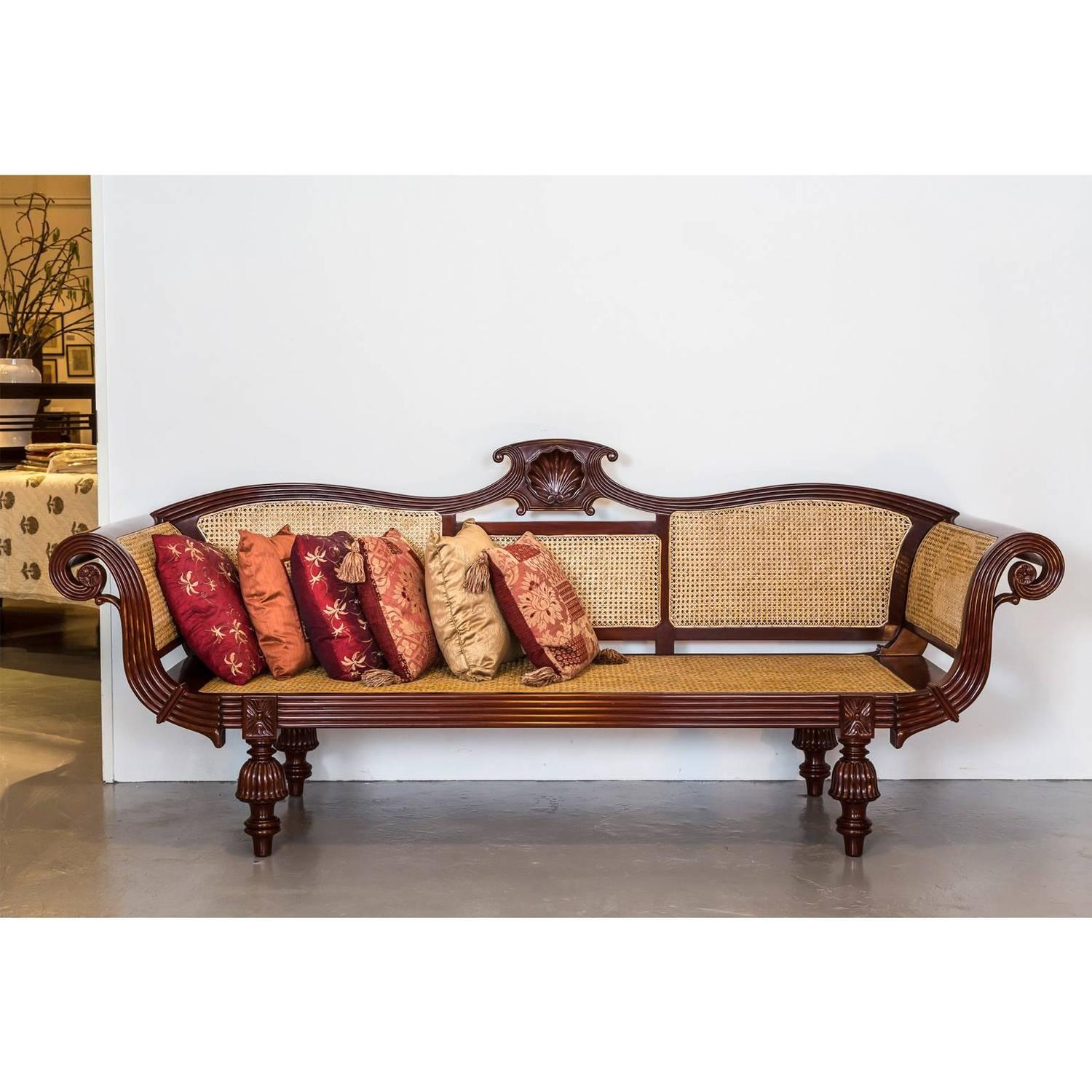 anglo indian or british colonial mahogany sofa for sale at. Black Bedroom Furniture Sets. Home Design Ideas