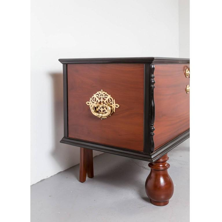 Indo Dutch Or Dutch Colonial Mahogany And Ebony Chest At 1stdibs
