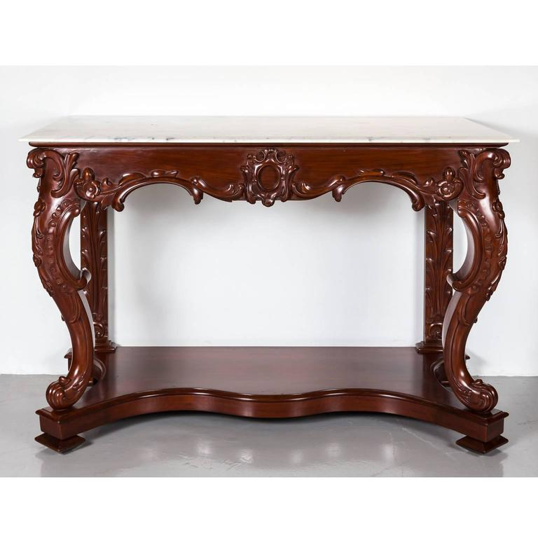 Antique AngloIndian or British Colonial Mahogany Console Table with