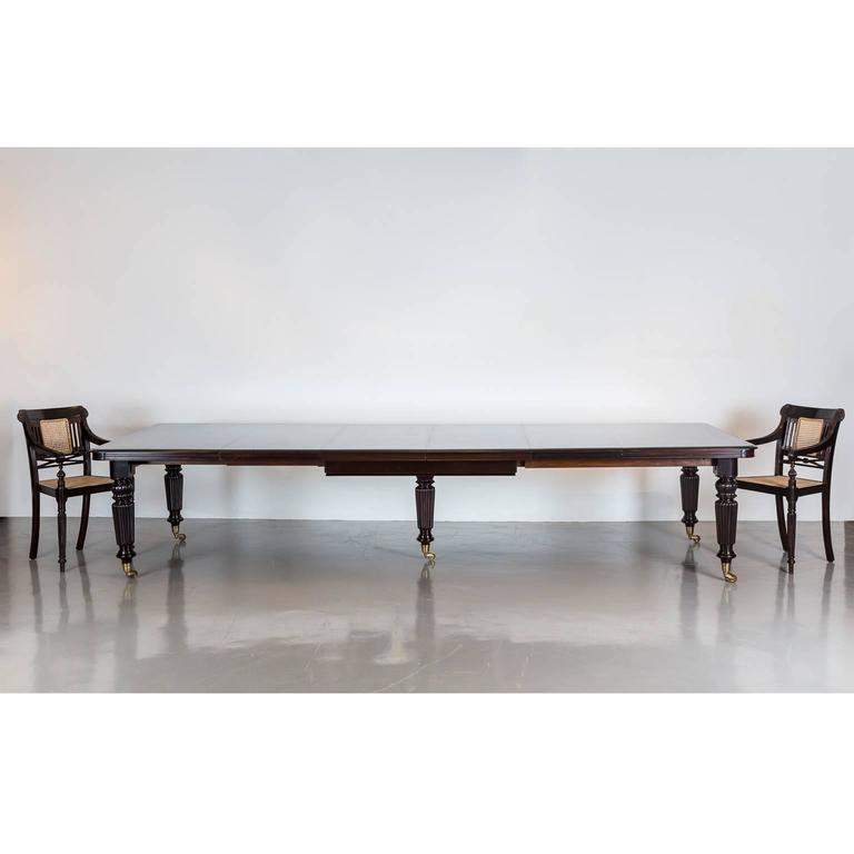 antique anglo indian rosewood extending dining table for