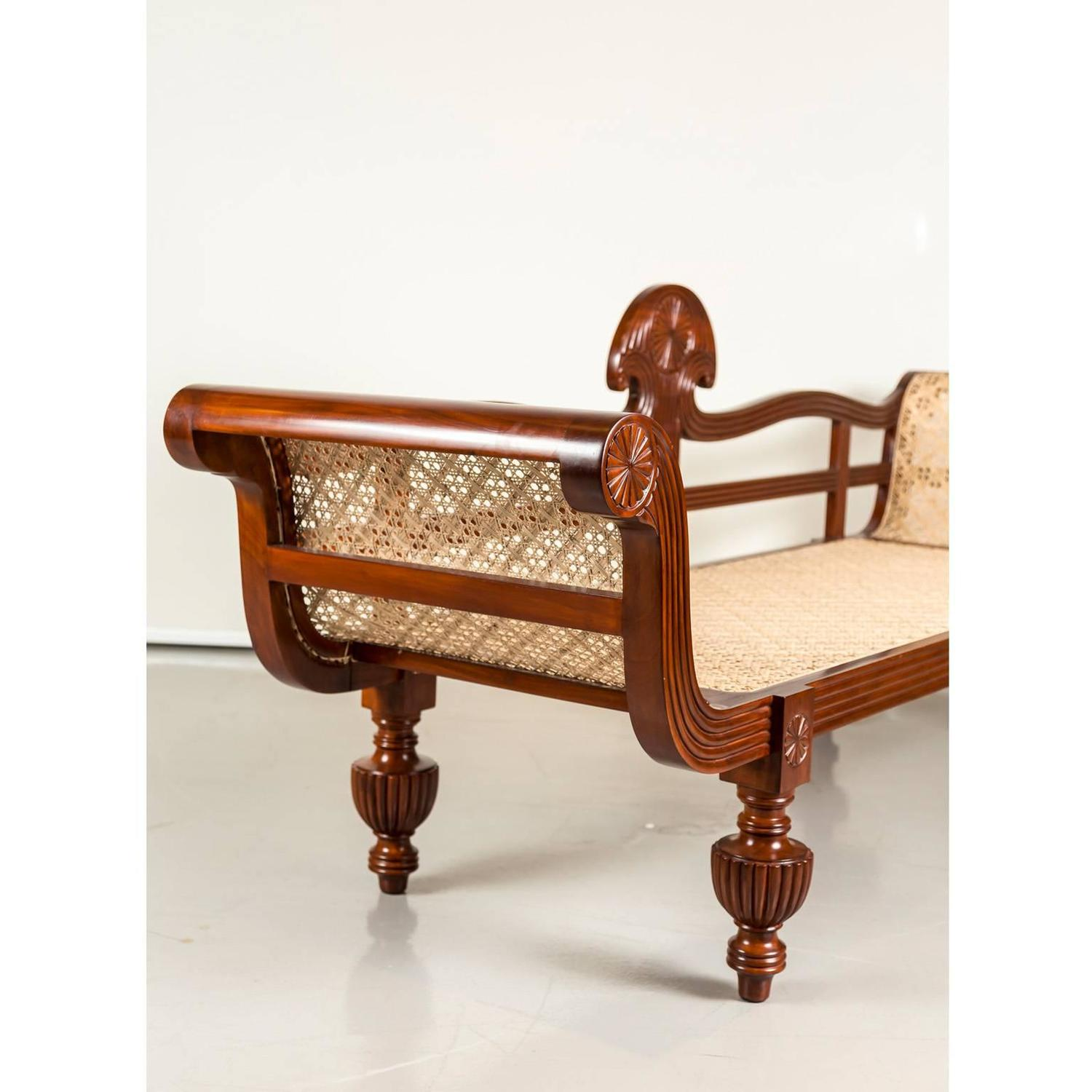 Antique Anglo Indian Or British Colonial Mahogany Sofa For Sale At 1stdibs
