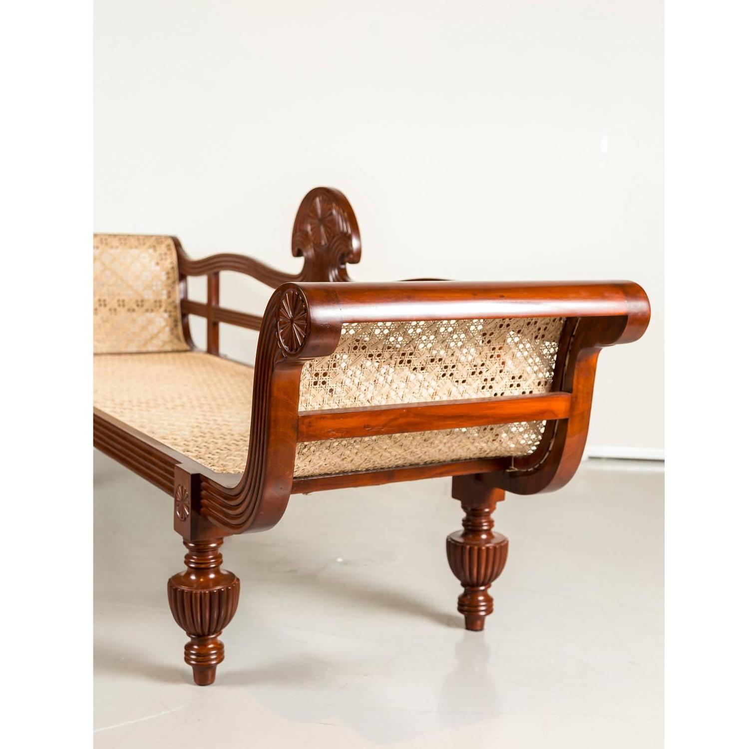 antique anglo indian or british colonial mahogany sofa for sale at 1stdibs. Black Bedroom Furniture Sets. Home Design Ideas