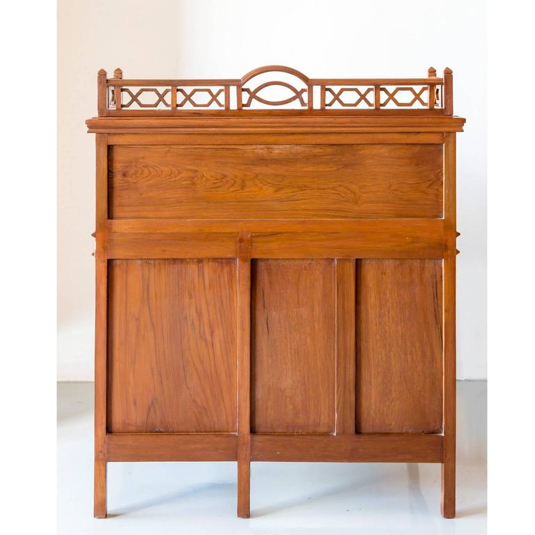 Antique Anglo Indian Or British Colonial Teak Wood