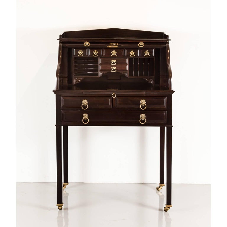 A Unique British Colonial Rosewood Secretaire Which Has Cleverly Constructed Hidden Trick Openings For Its
