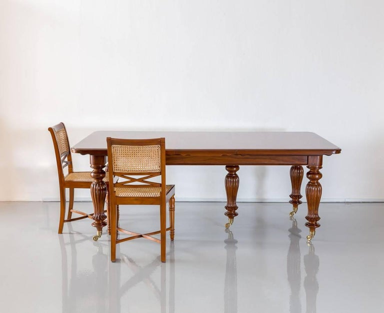 Antique Anglo-Indian or British Colonial Teakwood Extending Dining Table For Sale 6