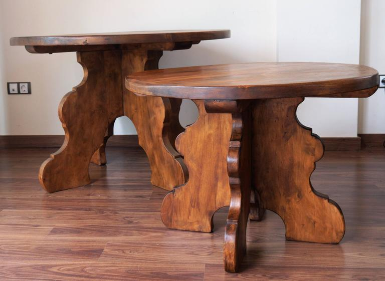 20th Century Rustic Round Coffee Table or Side Table For