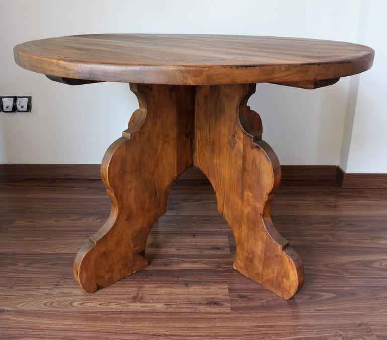 20th century rustic round coffee table or side table for sale at 1stdibs. Black Bedroom Furniture Sets. Home Design Ideas