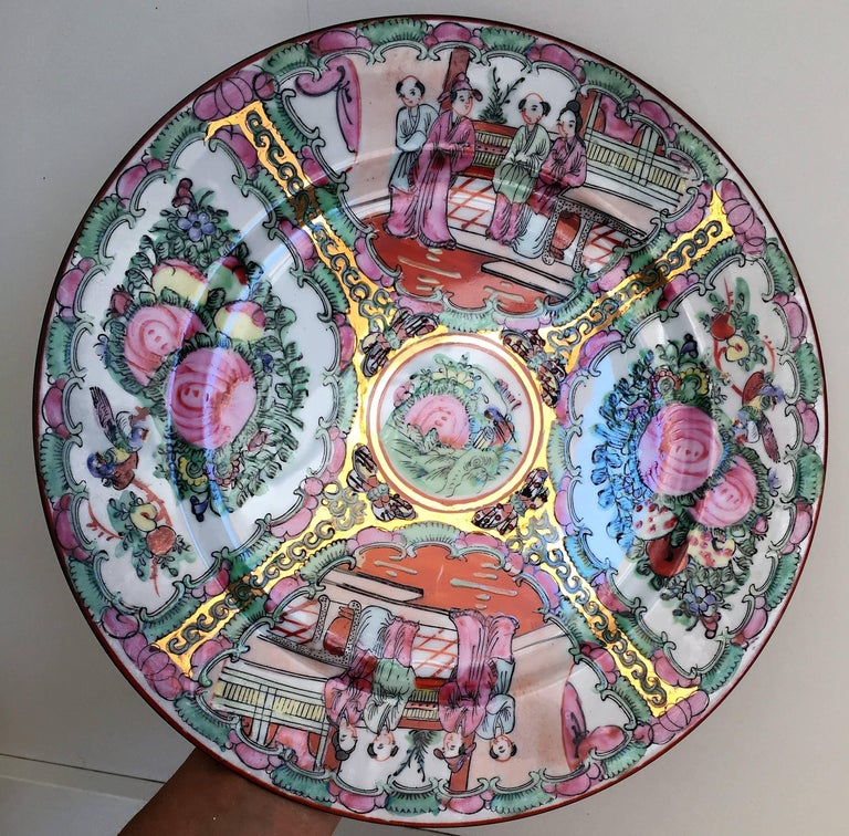 Chinese Export 19th Century, Chinese Porcelain Plates For Sale