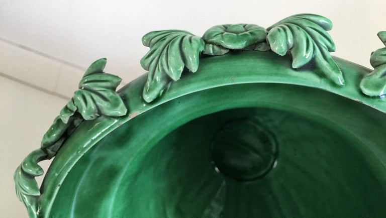 French Art Nouveau Ceramic Planter or Vase circa 1910 For Sale 1