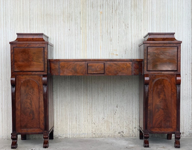 19th Century Biedermaier Vanity Desk, Probably Austria, circa 1815-1820 Signed For Sale