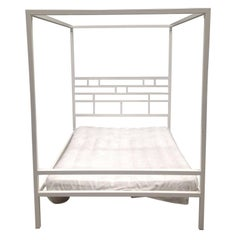 Four-Poster Canopy Bed or Daybed in Wrought Iron