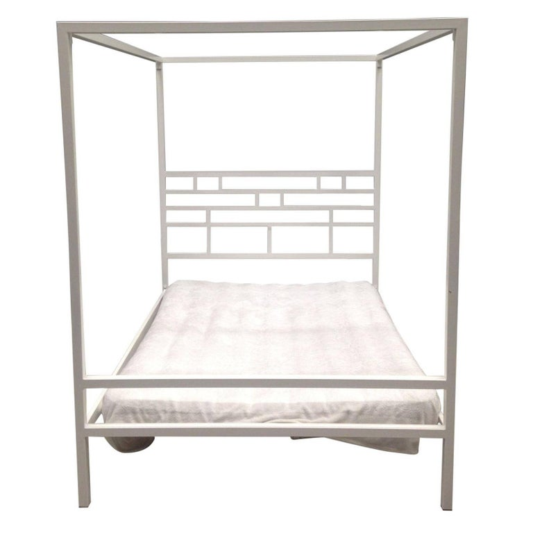 Four-Poster Canopy Bed or Daybed in Wrought Iron. Indoor & Outdoor For Sale