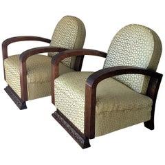 Pair of Midcentury Armchairs Art Deco Style
