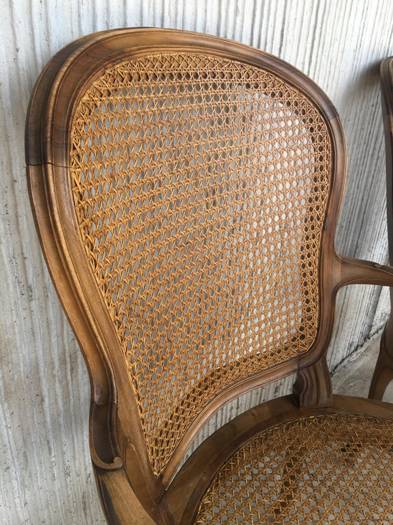 18th Louis XV Cane Back and Seat Fauteuil Armchair For Sale 6