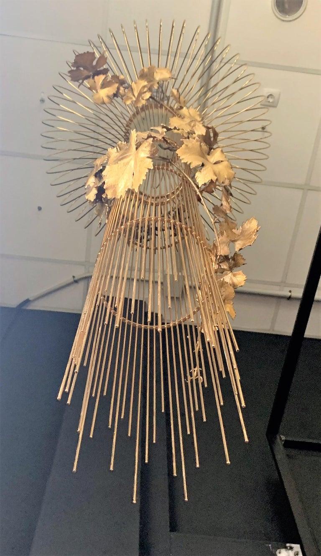 21st Century Sculptural Modern Handmade Led Chandelier in Steel Chrome For Sale 3