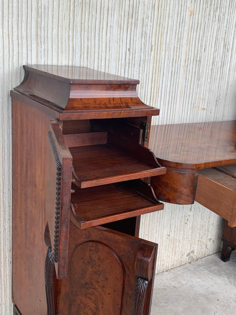 19th Century Biedermaier Vanity Desk, Probably Austria, circa 1815-1820 Signed In Good Condition For Sale In Miami, FL