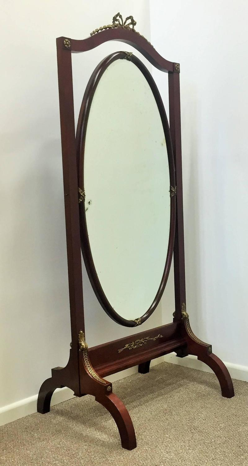 French empire mahogany 39 psyche 39 or cheval mirror circa for 6 foot floor mirror