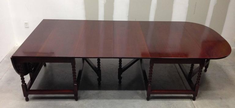 19th Century Late Regency Period Two-Part Dining Table or Conference Table in Mahogany For Sale