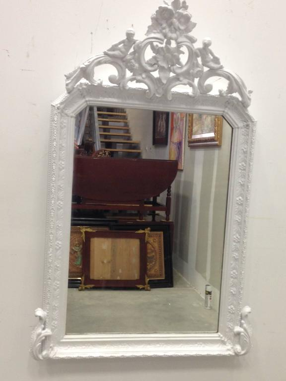 Antique French Painted, Provencal Louis XVI Period Mirror, circa 1780 2