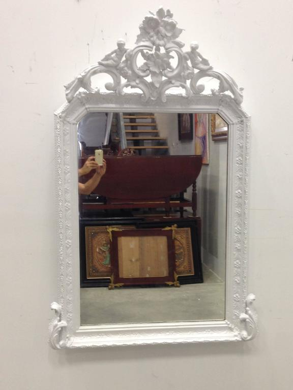 Antique French Painted, Provencal Louis XVI Period Mirror, circa 1780 8