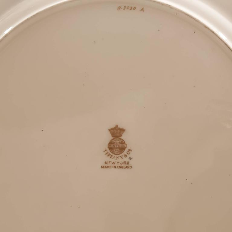 Hand-Crafted 12 Minton England Custom for Tiffany Dinner Plates Elaborate Raised Gilding : custom made dinner plates - pezcame.com