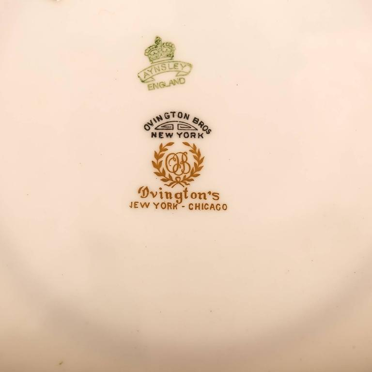 12 Antique English Dinner Plates Yellow and Raised Gold Custom Ordered  In Good Condition For Sale In West Palm Beach, FL