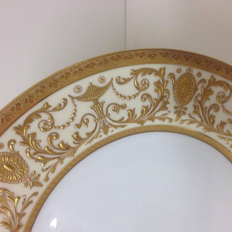 how to raise kitchen cabinets elaborate gilt encrusted set of 11 presentation dinner 17272