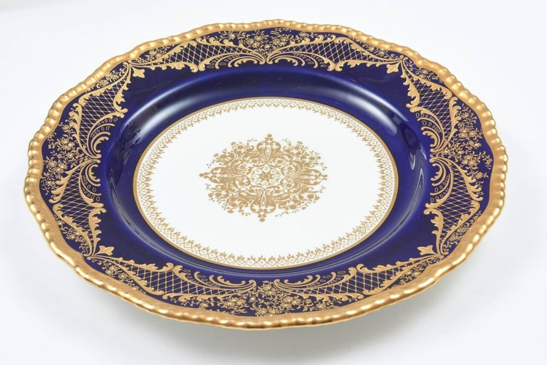 how to raise kitchen cabinets 12 stunning cobalt blue gilt encrusted dinner or 17272