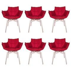 21st Century Patricia Urquiola Design Set of Six Husk Swivel Chairs, 2011