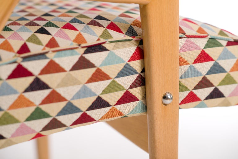 Fabric Lounge Chairs by Jaroslav Smidek for Jitona, 1960s, Set of 2 For Sale